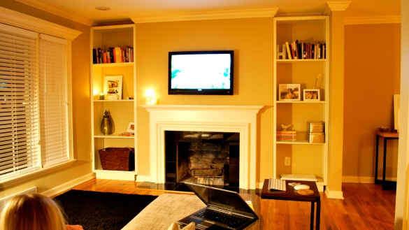do it yourself built in bookcase plans