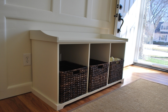 entryway shoe storage bench plans
