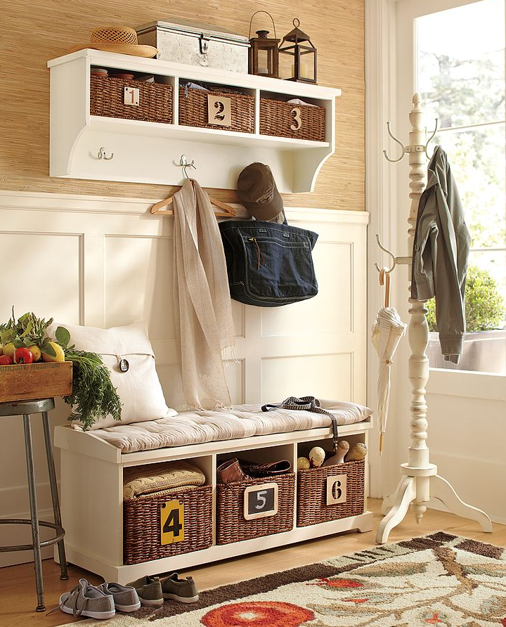 Diy entryway storage the suburban urbanist Entryway bench and shelf