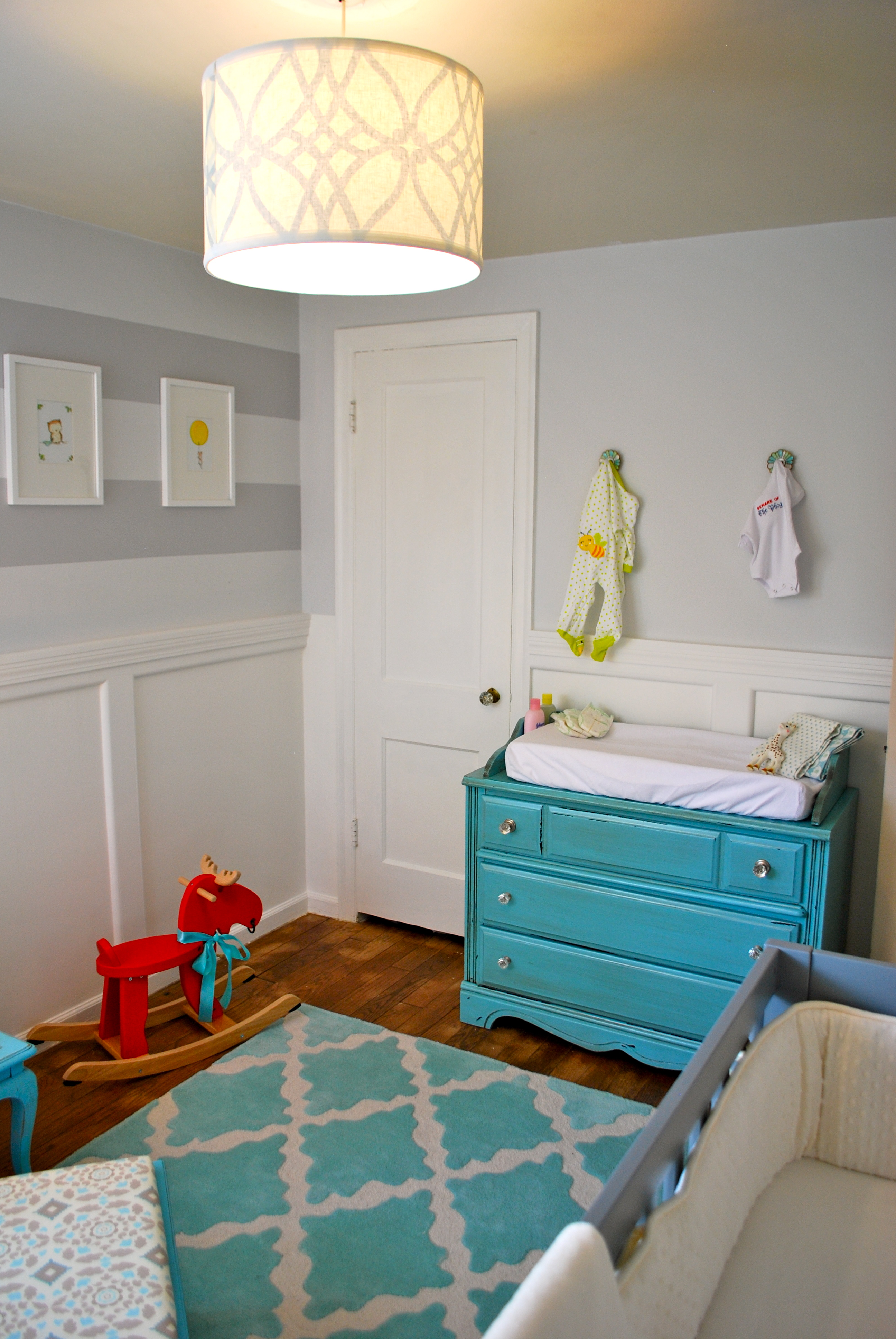Baby whetstine nursery reveal the suburban urbanist for Grey and white walls