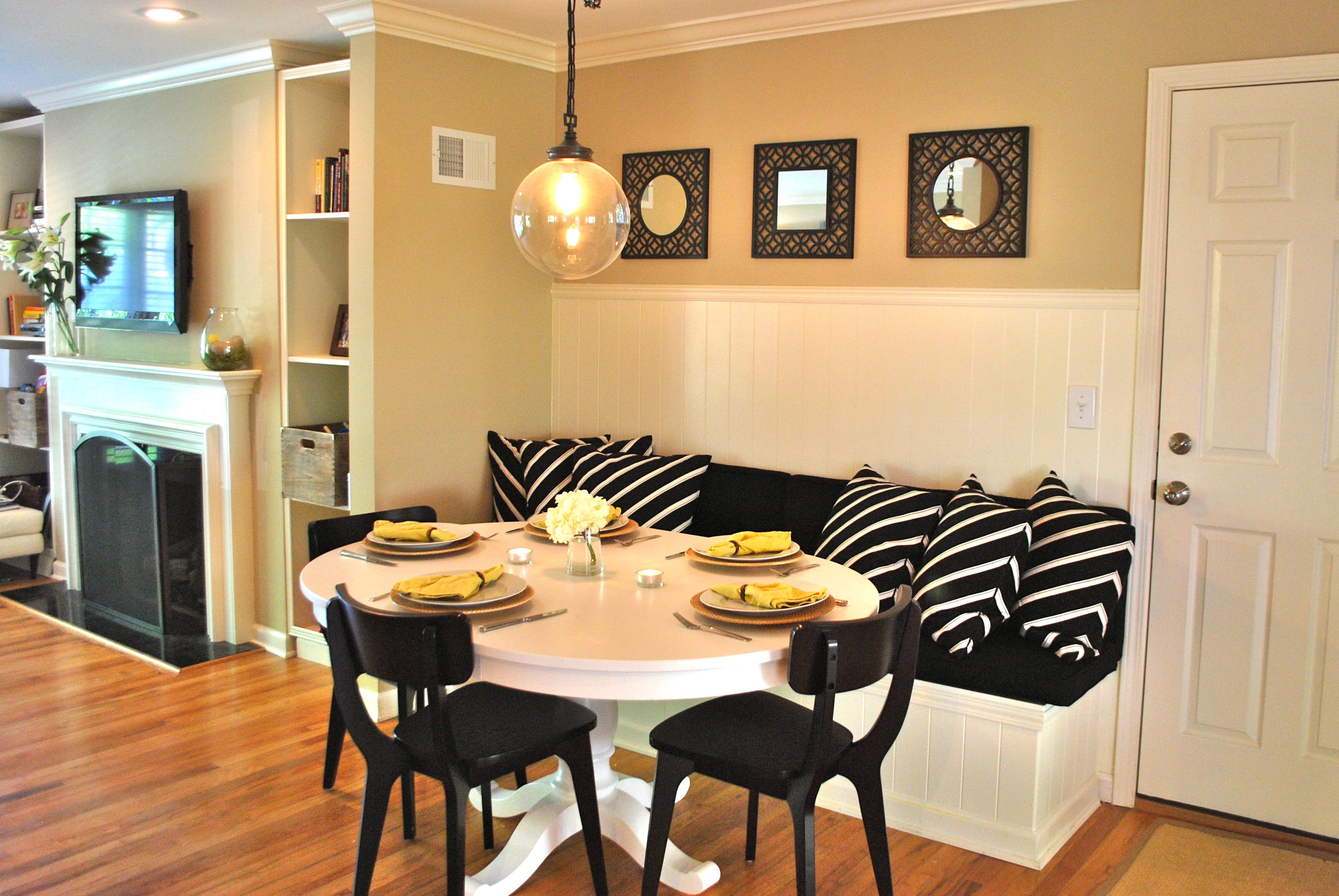 Diy Kitchen Banquette Part 2 Love Your Home