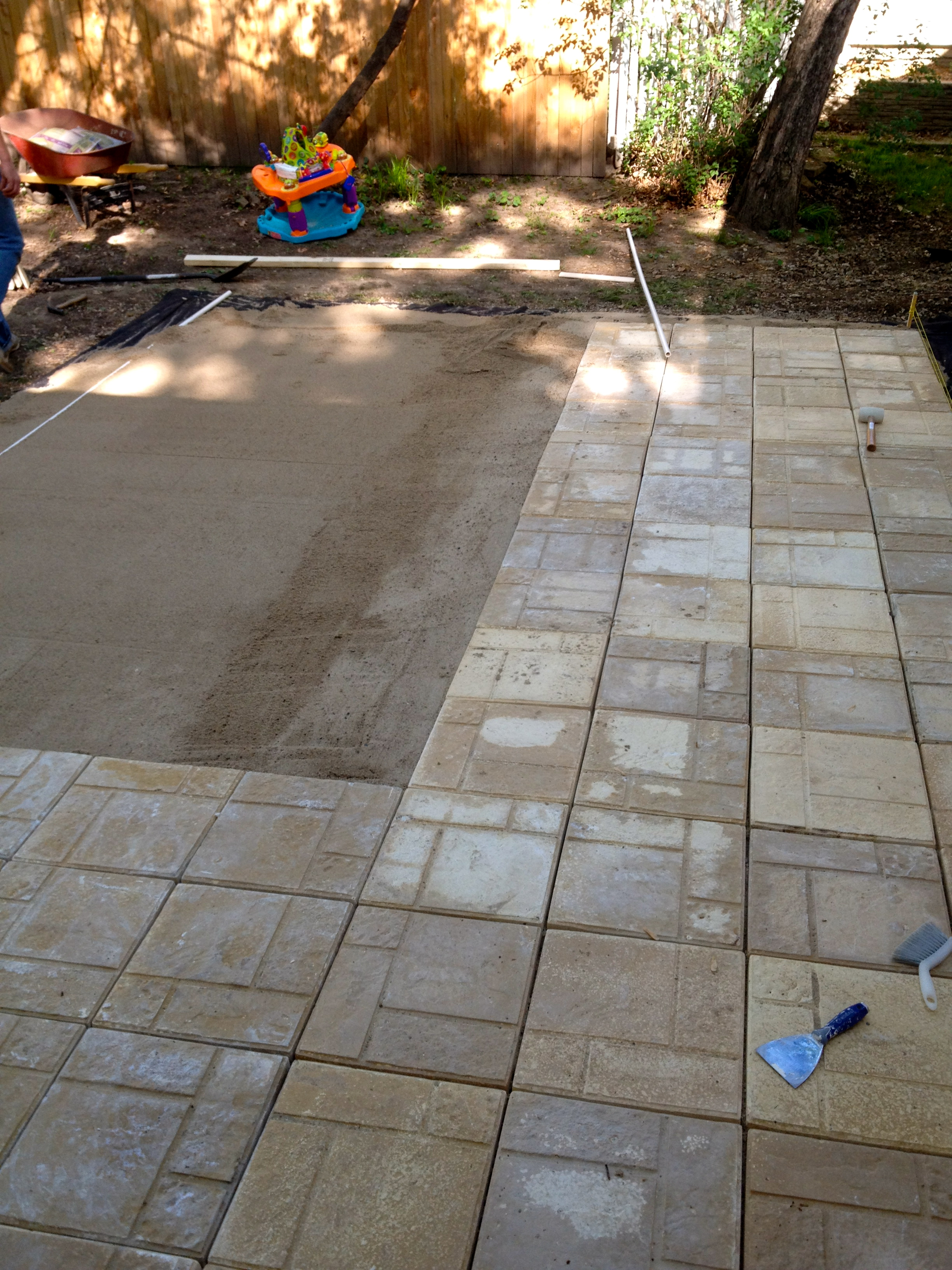 diy large paver patio diy paver patio the suburban urbanist