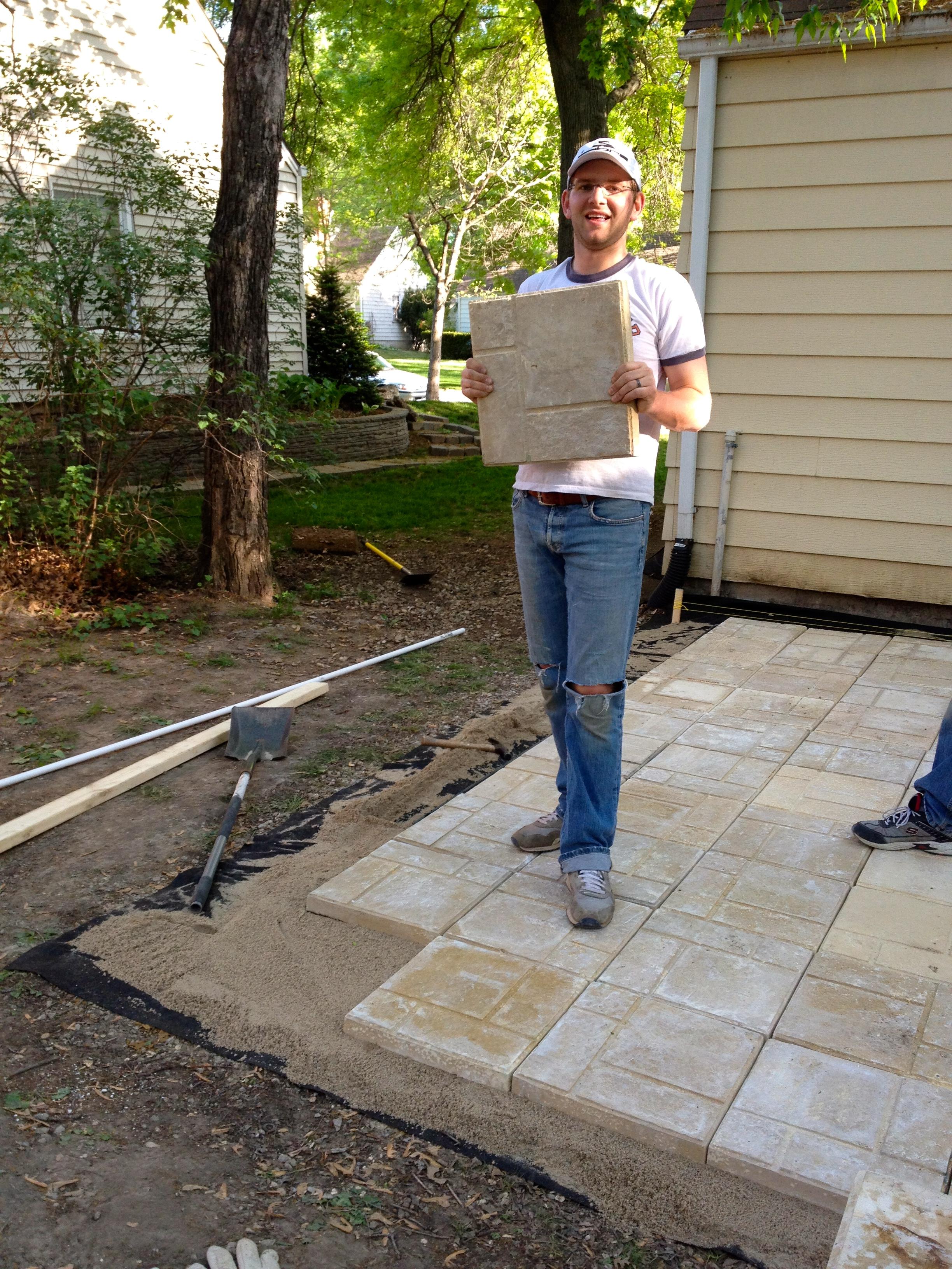installing a paver patio diy diy paver patio the suburban urbanist