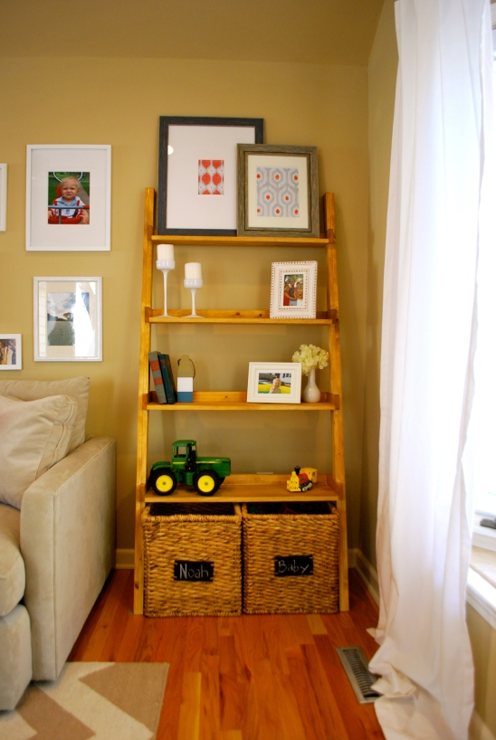Diy Ladder Bookshelf An Easy Weekend Project The